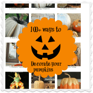 Shabby chic pumpkins {Primp your pumpkin party started}