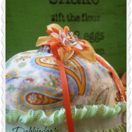 How to mod podge a faux pumpkin with fabric
