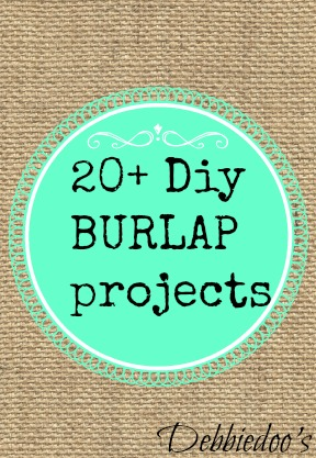 burlapdiy 20+ Diy burlap projects
