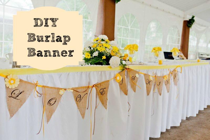 Diy Wedding Word Banners: A Burlap Wedding Banner