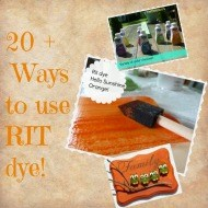 Diy Rit dye projects {thinking outside the box}