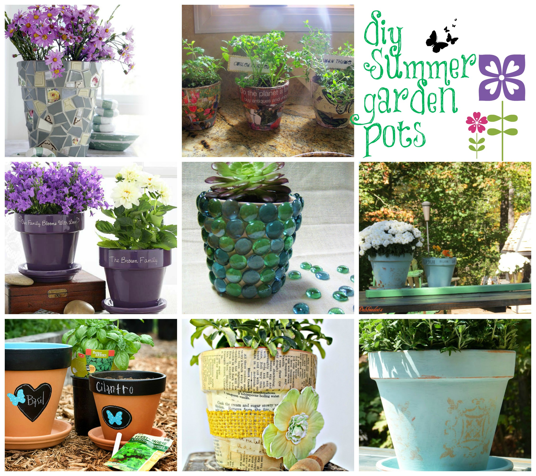 Ideas for decorating Terra cotta pots in the garden - Debbiedoo's