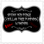 Creepy, spooky dollar tree pumpkins!