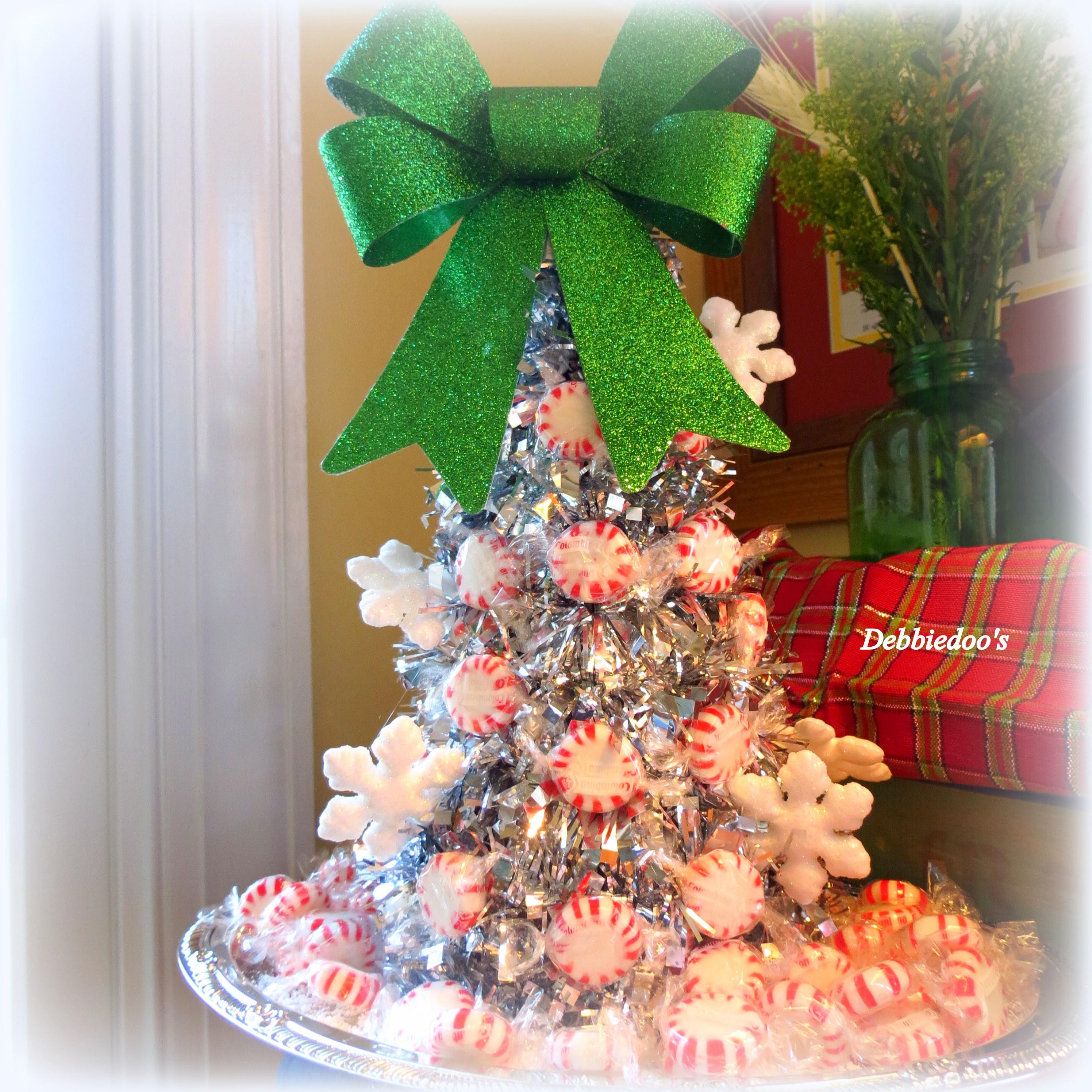 Peppermint Christmas Tree Craft