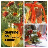 Crafting on a dime {Budget friendly Seasonal decorating}