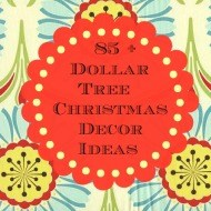 A sparkly Peppermint Christmas tree {Dollar tree Craft}