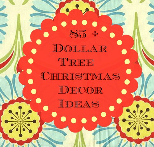 Dollar Tree Christmas Decor And Gift Ideas: A Sparkly Peppermint Christmas Tree {Dollar Tree Craft