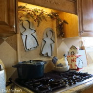 Christmas decor in a Country French, Rustic Kitchen
