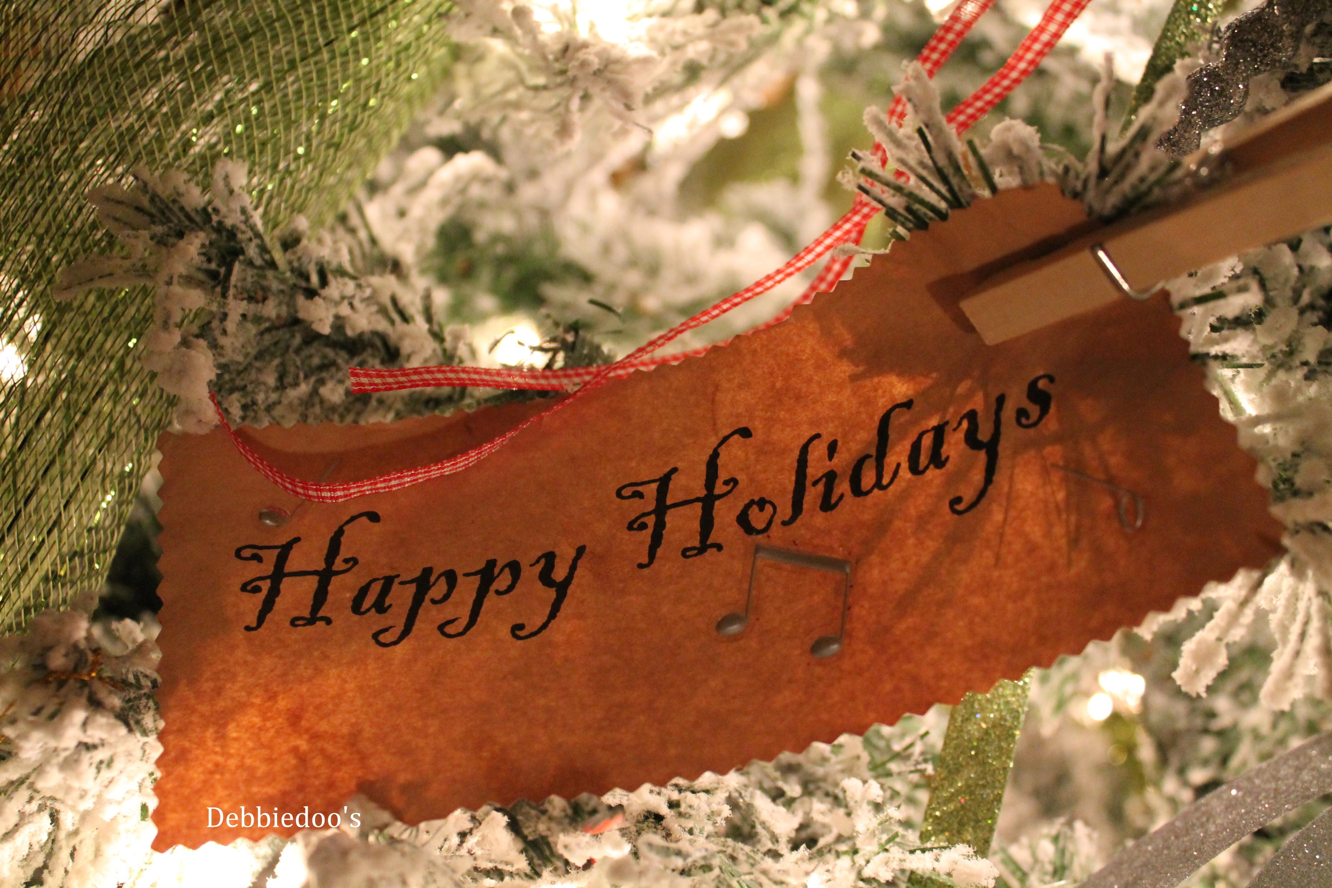 Pottery barn Holiday garland knock off