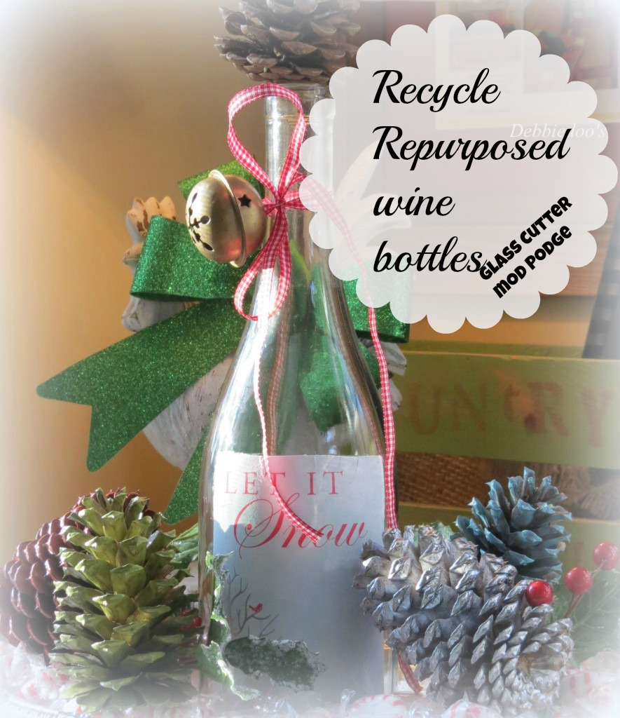 Repurposed-wine-bottle Holiday gift giving guide on a budget