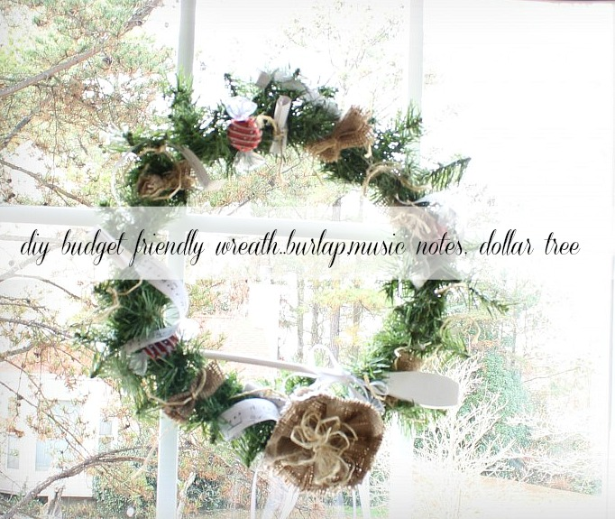 burlap-wreath Holiday gift giving guide on a budget