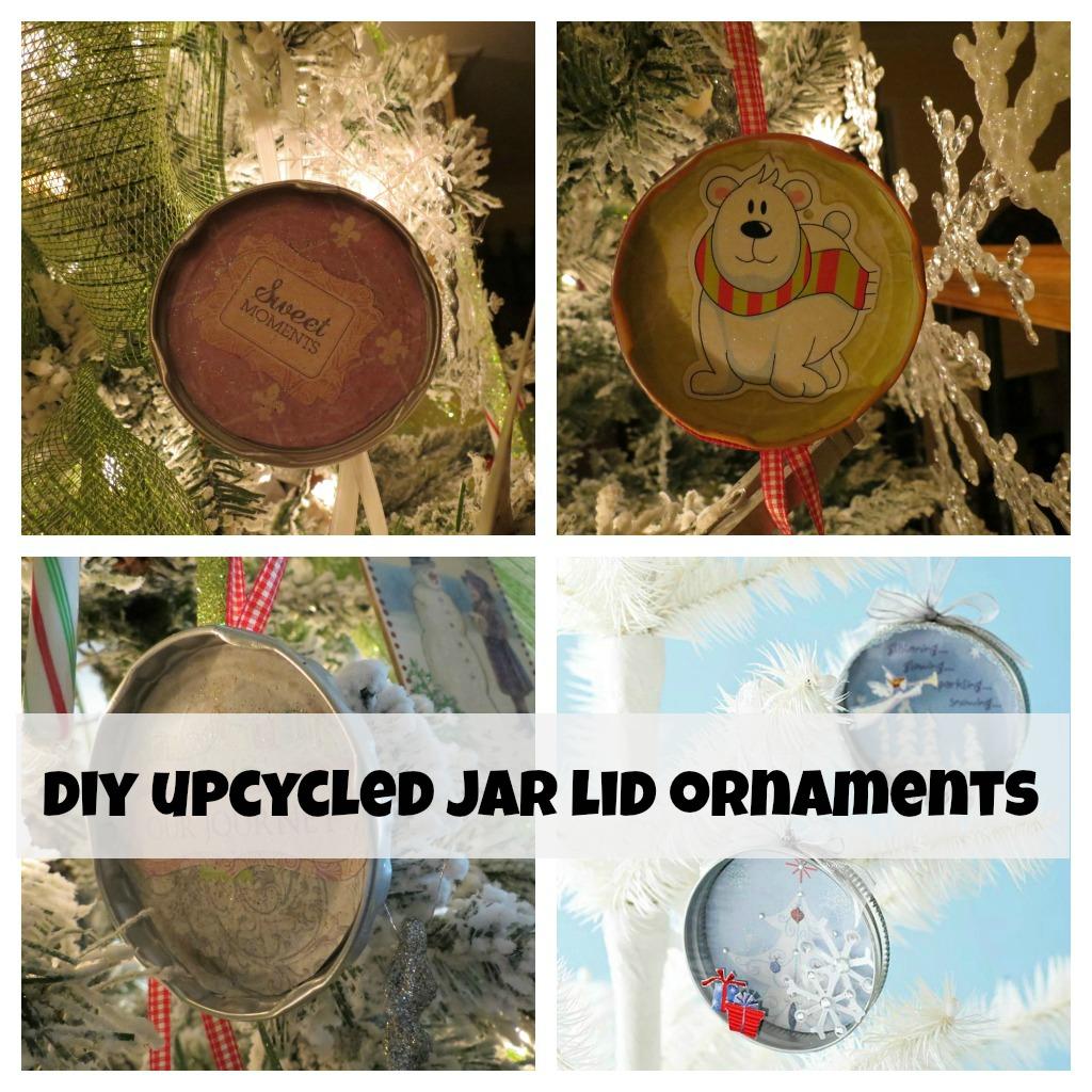 diy-up-cycled-jar-lid-ornaments Recycled jar lids {diy Christmas ornaments}