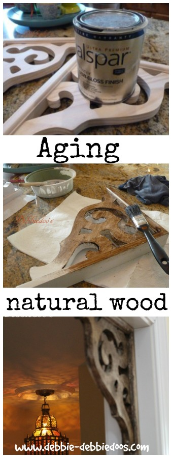 Aging and distressing natural wood