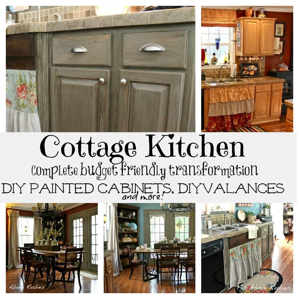 Blue Cottage Kitchen Cabinets: Cottage Kitchen Complete Transformation Tour