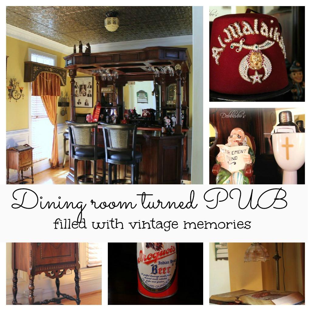 Dining room turned pub