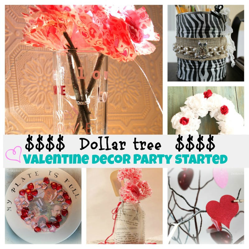 Dollar-tree-Valentines-decor-decorating Mod podge recipe Valentine tray