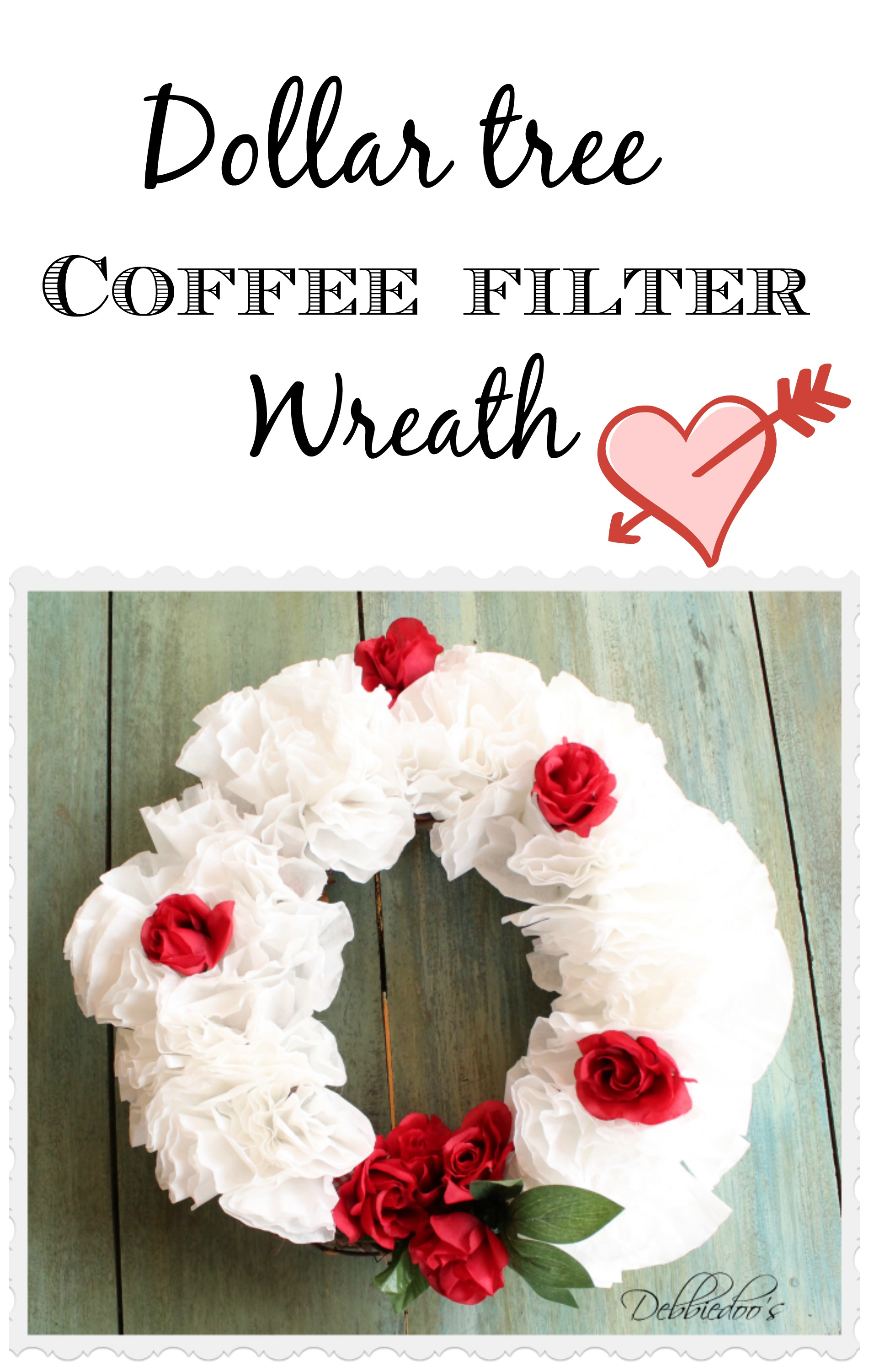 Dollar tree coffee filter wreath