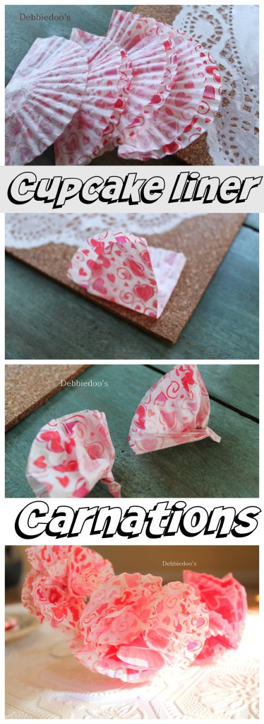 How to make cupcake liner carnations