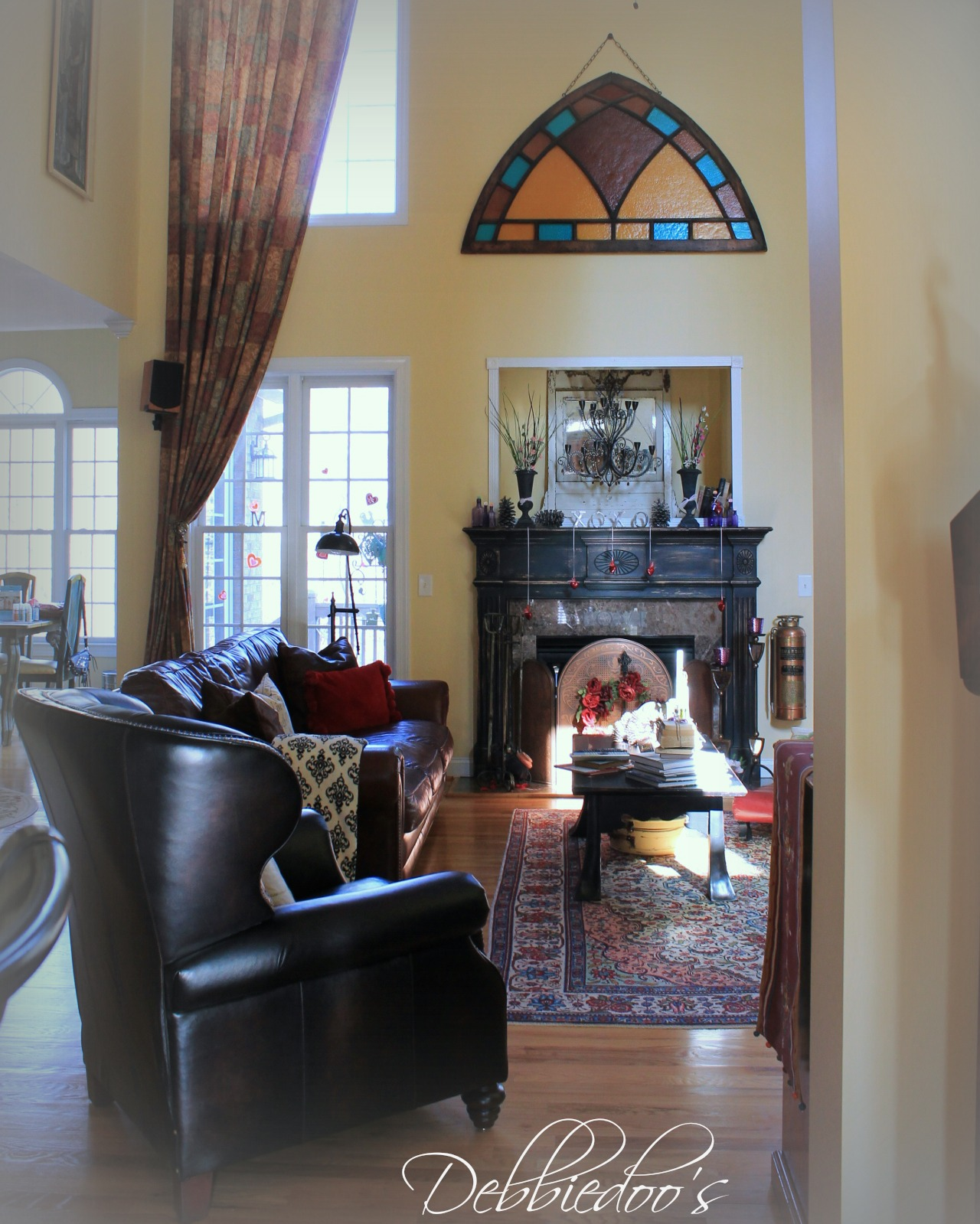 Old World Style family room