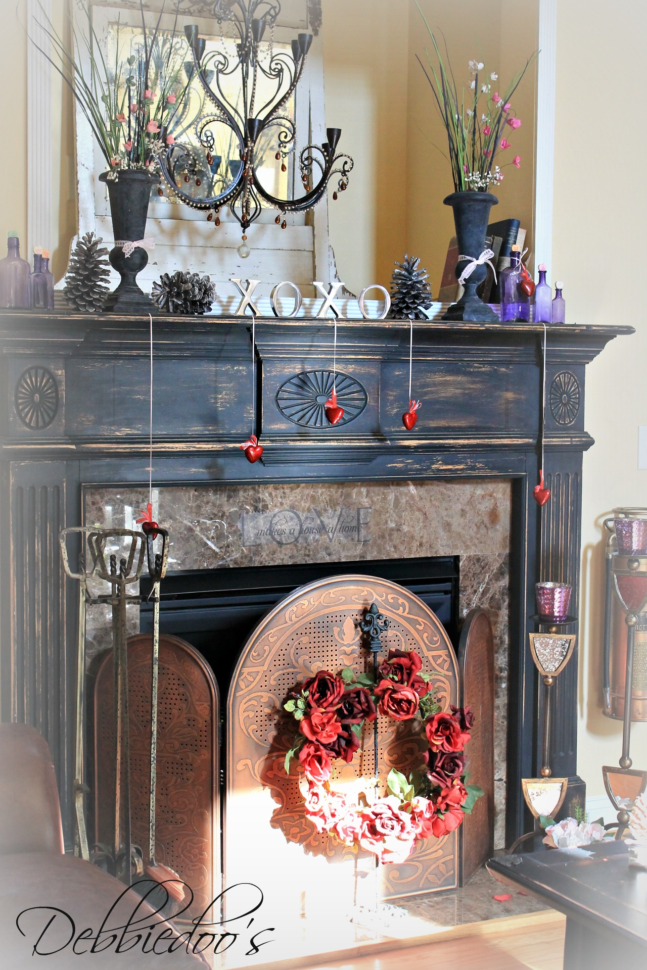 Painting The Fireplace Surround Debbiedoo S