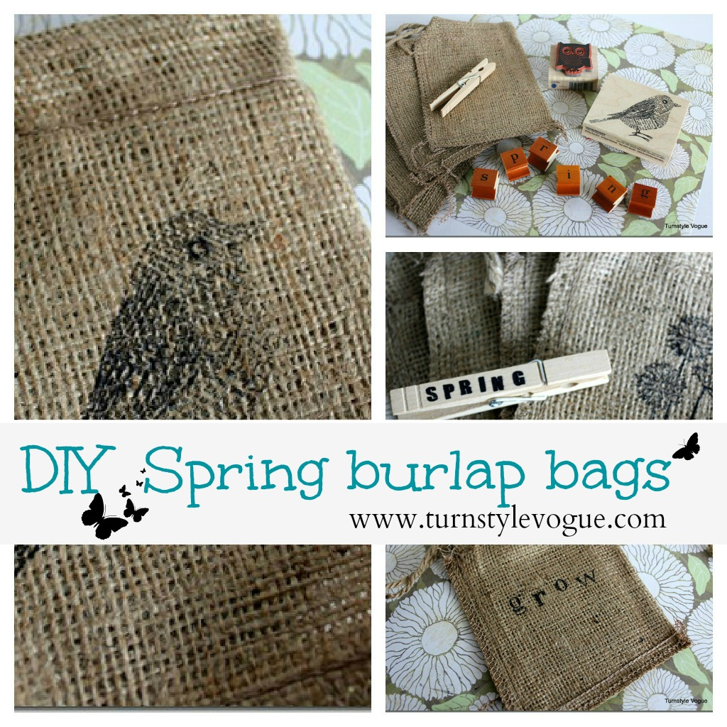 Spring decorating and butterflies debbiedoo 39 s Burlap bag decorating ideas