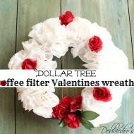 Valentines coffee filter wreath