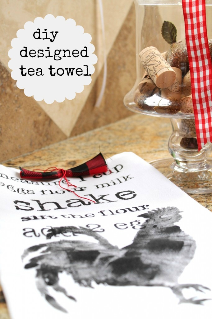 diy-designed-tea-towel Roosters are in da House!