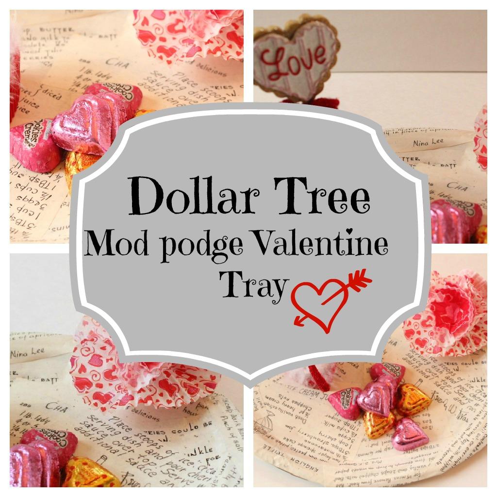 dollar-tree-tray Mod podge recipe Valentine tray
