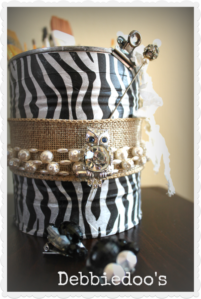 glam-can Getting my craft on, one can at a time! {Upcycled cans}