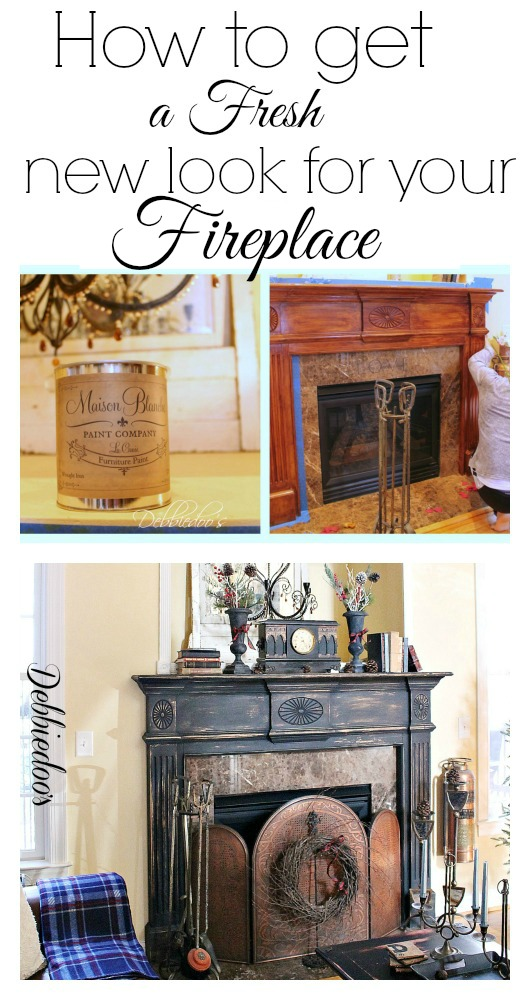 how to paint your fireplace surround