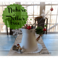 Decorating with Nature and a dollar cont….