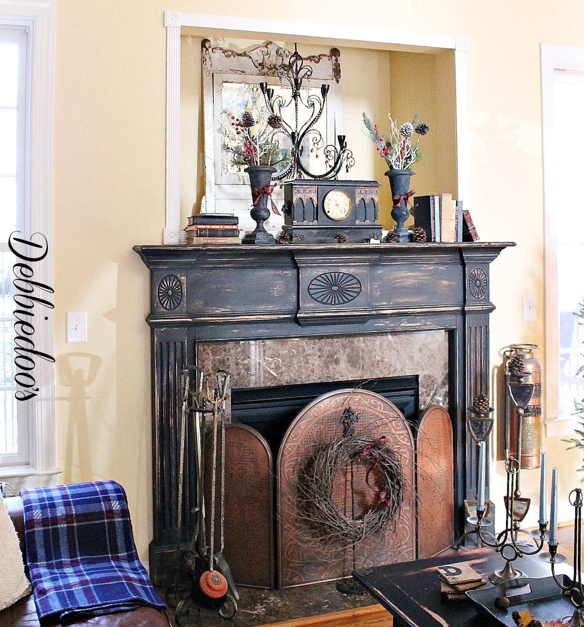 Painting the fireplace surround - Debbiedoo's