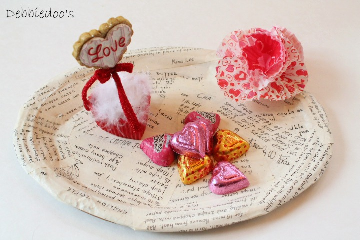 tray Mod podge recipe Valentine tray