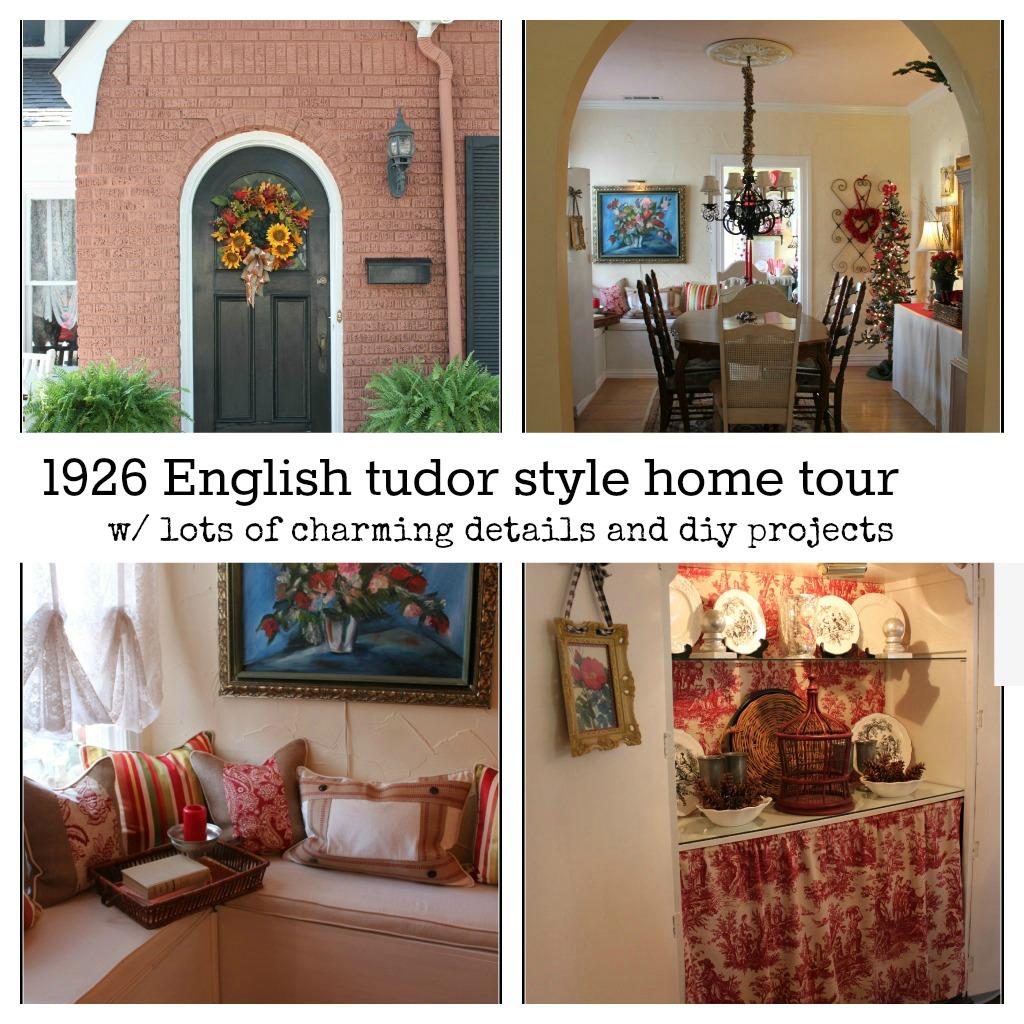 tutor-home-tour 1926 English tudor style cottage home tour