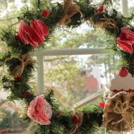 valentine kitchen window wreath