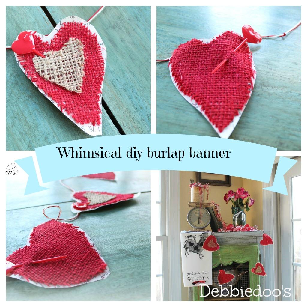 whimsical burlap banner