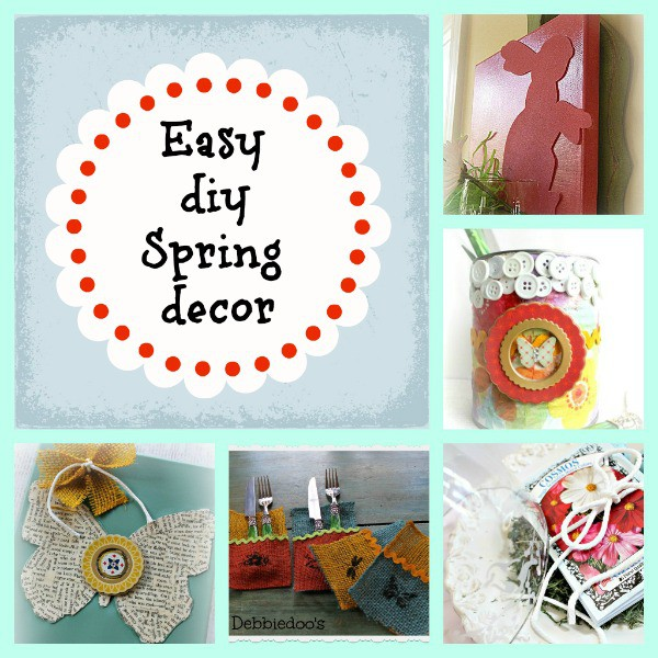 5 quick and easy Spring decor ideas on a budget - Debbiedoo's
