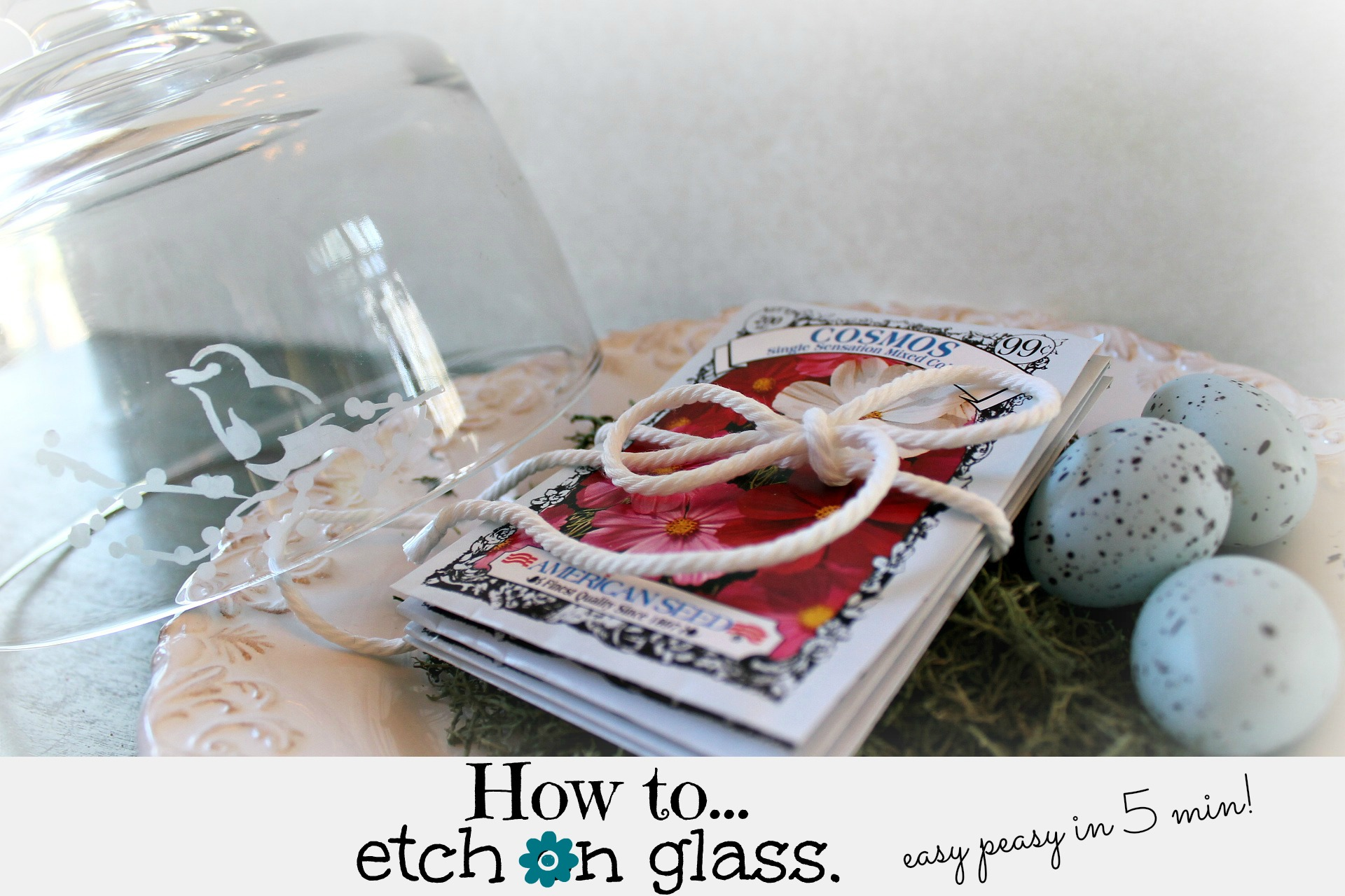 How to etch on glass