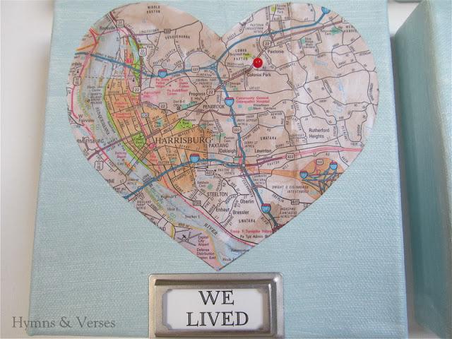 Mod Podge on canvas love art