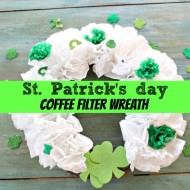 St. Patricks's day coffee filter wreath