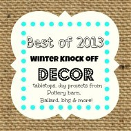 Knock-off decor inspired ideas round up from the party!