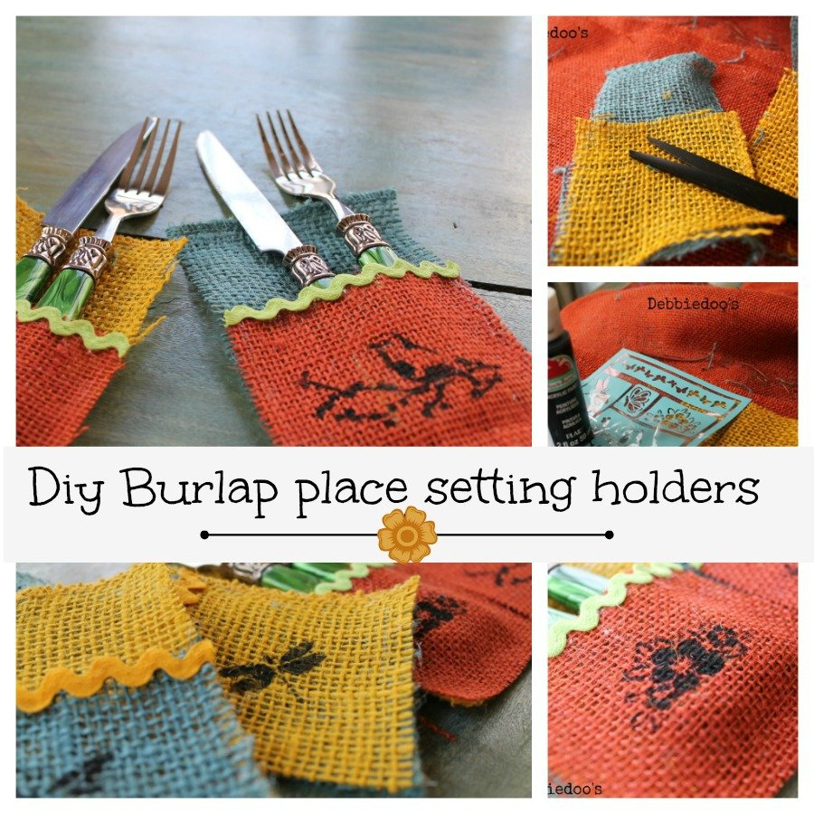 burlap place settings diy