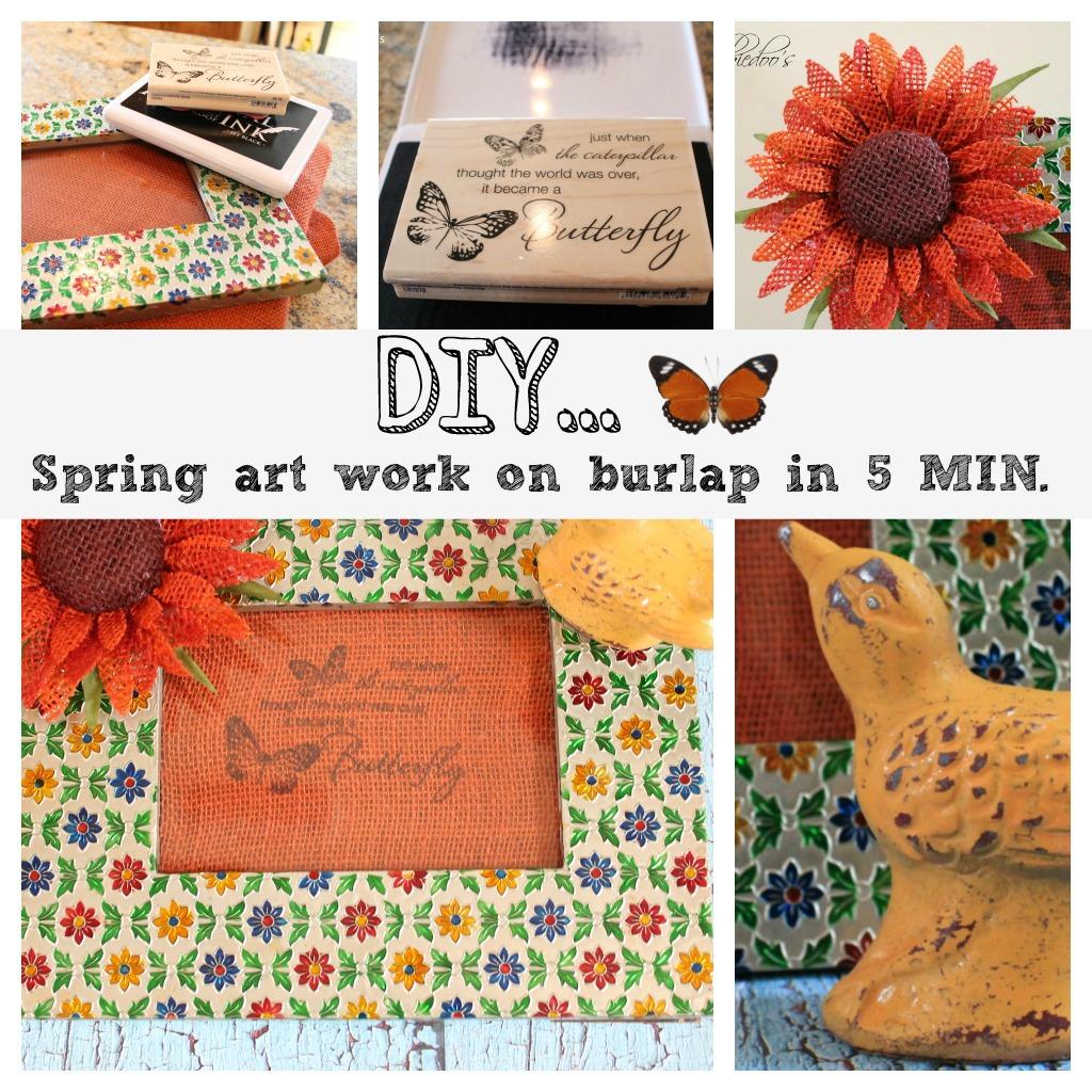 diy spring art work in 5 minutes