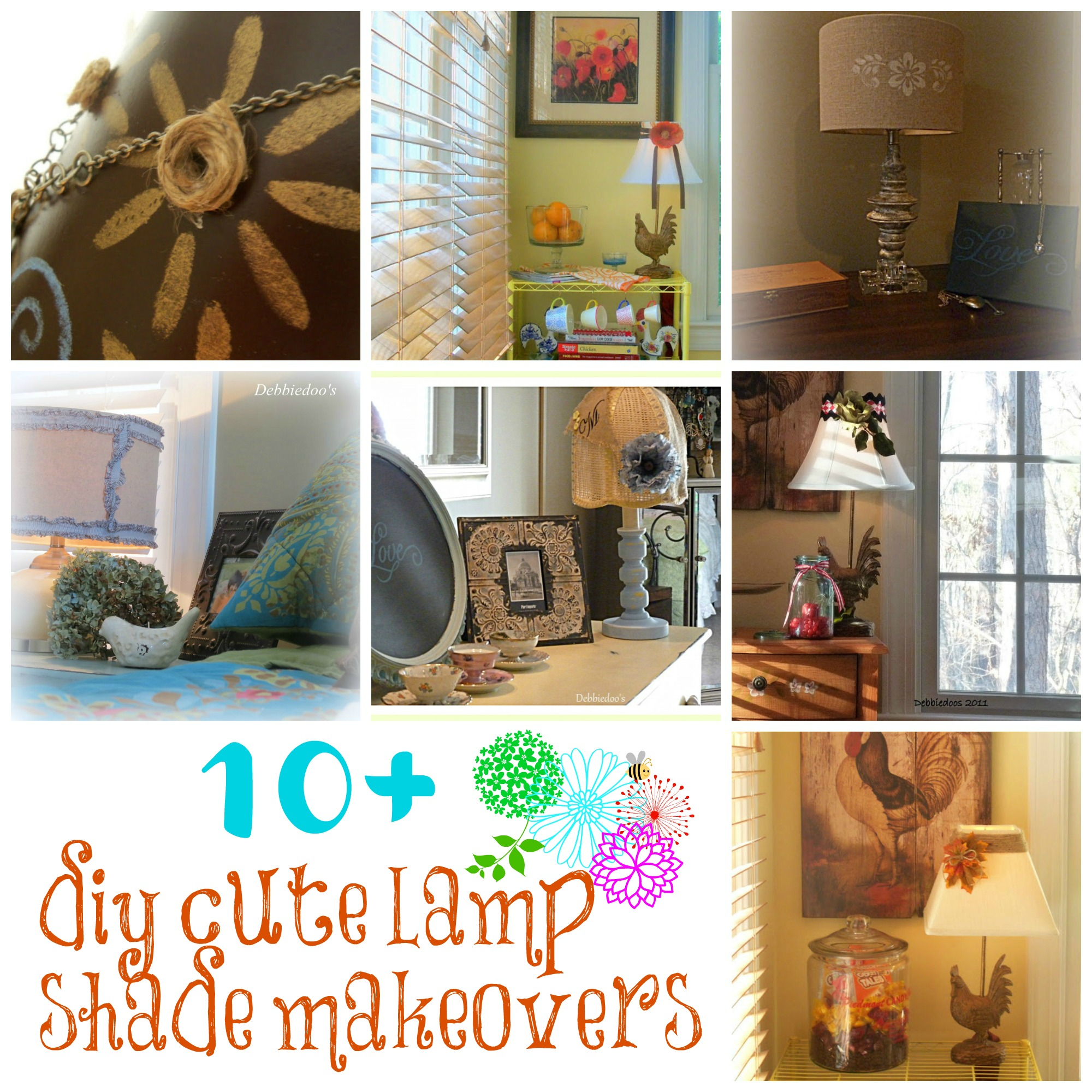 lamp shade makeovers