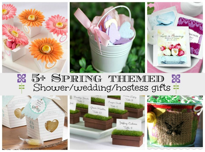 5+ spring themed favors or gifts