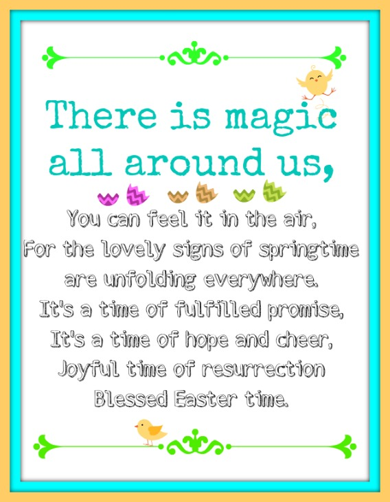 Easter blessing printable