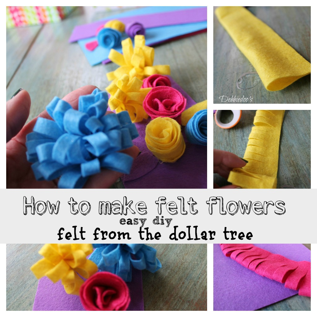 How to make felt flowers the easy way
