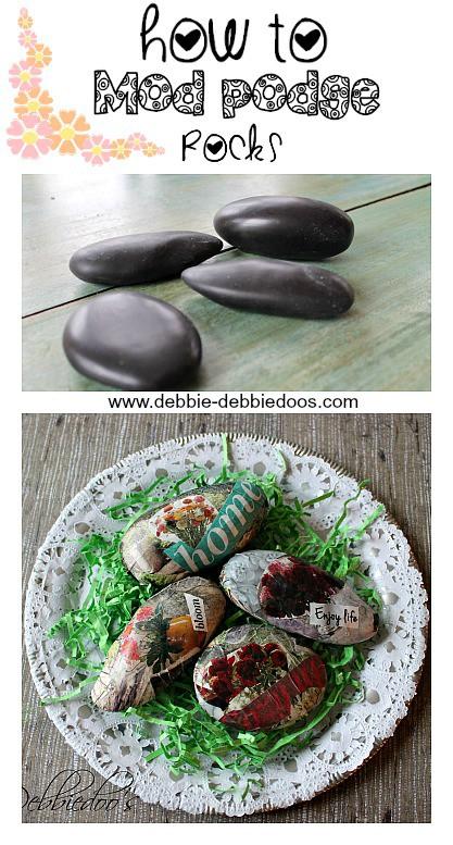 How to mod podge rocks
