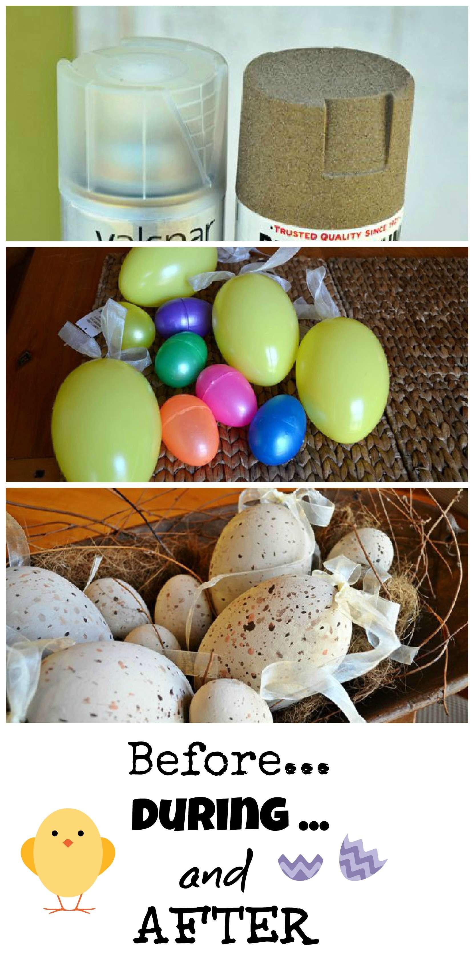 spray painted faux easter eggs debbiedoos. Black Bedroom Furniture Sets. Home Design Ideas