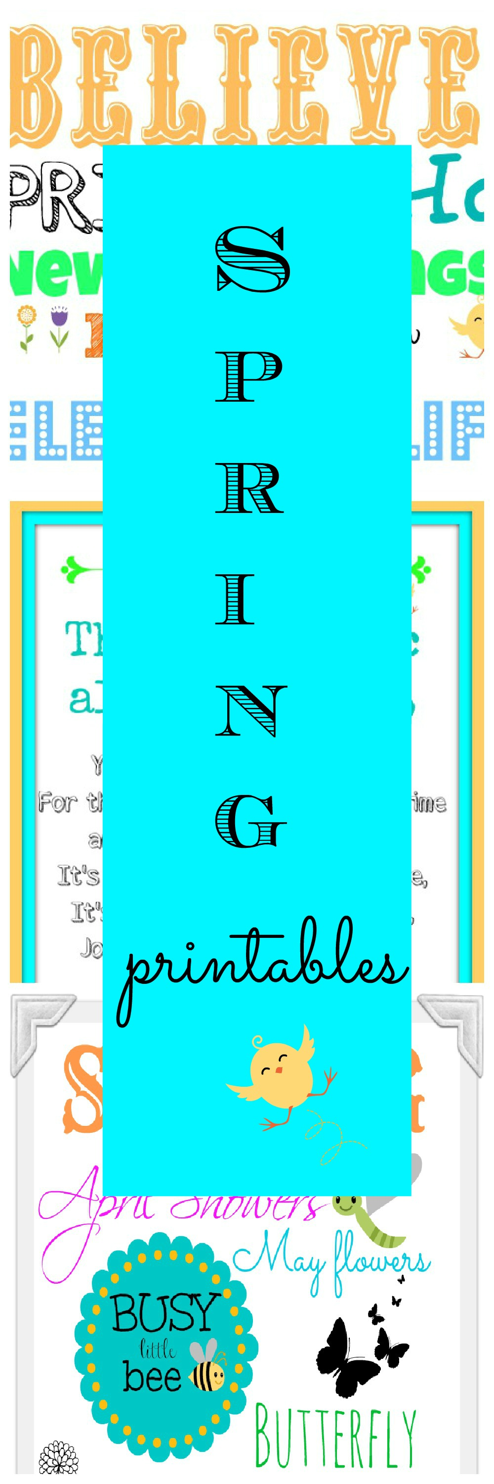 Easter-Spring time printables - Debbiedoos